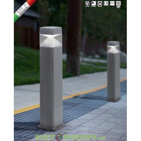 Столб уличный светодиодный 10Вт, ESTER 800 (800x175) черный 0,8м