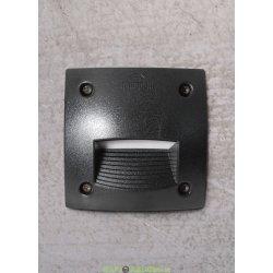 Светильник уличный (подсветка ступеней) FUMAGALLI LETI 100 SQUARE-ST LED черный/опал 1xGX53 LED с лампой 3W