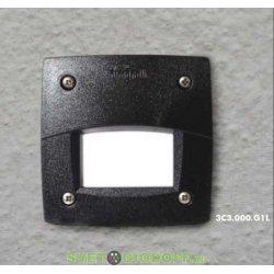 Светильник уличный (подсветка ступеней) FUMAGALLI LETI 100 SQUARE-EL LED черный/опал 1xGX53 LED с лампой 3W