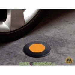 Уличный светодиодный светильник в полотно дорог FUMAGALLI CECI 90 /3,5 ВТ черный/ оранжевое стекло
