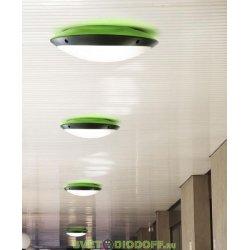 Влагозащищенный уличный светильник IP66 Fumagalli Lucia, чёрный/опал зеленый ореол