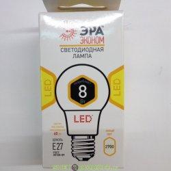Лампа светодиодная ЭРА LED smd A60-8w-827-E27 ECO