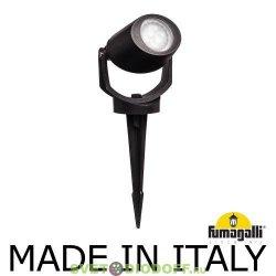 Светильник светодиодный грунтовый Fumagalli MINI TOMMY SPIKE черный, полупрозрачный, 1XGU10 LED с лампой 3,5W