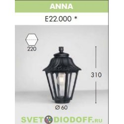 Венчающий светильник ANNA Fumagalli черный/прозрачный рассеиватель 1xE27 LED-FIL с лампой 800Lm, 4000К