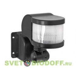 Датчик движения инфракрасный ДД-018-B 1200Вт 270 гр. 12м, IP44 черный