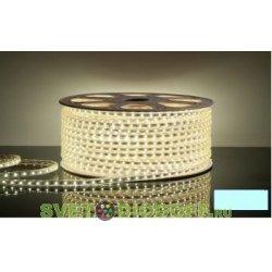 Светодиодная лента 220 вольт 3528 60 LED IP67 4,8Вт/м холодного свечения