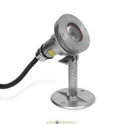 Накладной светодиодный светильник DC12V 3.4W IP68 (Холодный белый)