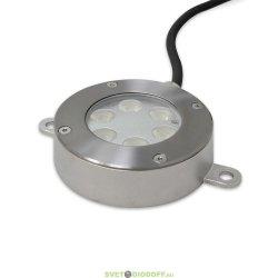 Накладной светодиодный подводный светильник DC24V 6Х2W IP68 RGB (3 in 1)
