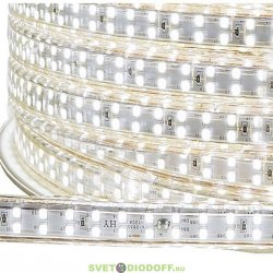 Светодиодная лента 220V, SMD 3014 240led/m 220V IP67, Холодный белый