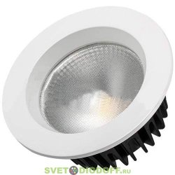 Светодиодный светильник Даунлайт LTD-145WH-FROST-16W White 110 градусов