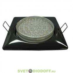 Светильник под лампу Ecola GX53 H4 Square светильник квадратный без рефл. Черный хром