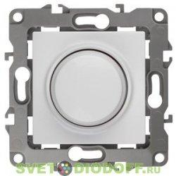 Светорегулятор (диммер) поворотно-нажимной, 400ВА 230В, Эра12, белый 12-4101-01 ЭРА