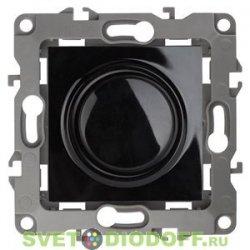Светорегулятор (диммер) поворотно-нажимной, 400ВА 230В, Эра12, чёрный 12-4101-06 ЭРА
