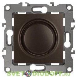 Светорегулятор (диммер) поворотно-нажимной, 400ВА 230В, Эра12, бронза 12-4101-13 ЭРА