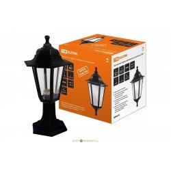 Светильник 6060-04 садово-парковый шестигранник, 60Вт, стойка, черный TDM