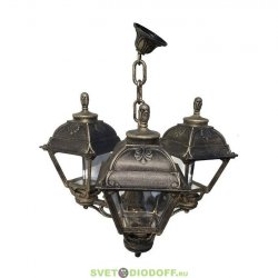 Уличный подвесной светильник Fumagalli Sichem/Cefa 3L черный/прозрачный