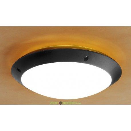 Влагозащищенный уличный светильник IP66 Fumagalli Lucia, чёрный/опал оранжевый ореол