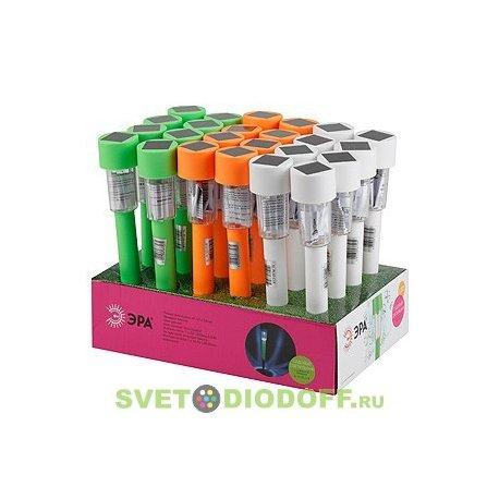 SL-PL32-CLR ЭРА Садовый светильник на солнечной батарее, пластик, цветной, 32 см