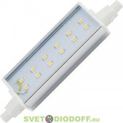 Светодиодная лампа для прожектора Ecola Projector  LED Lamp Premium 11,0W F118 220V R7s 2800K (алюм. радиатор) 118x20x32