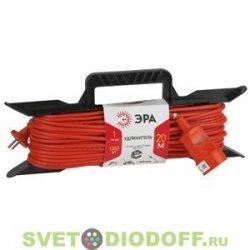 Удлинитель силовой ЭРА рамка без заземл. 20м 1гн 2х0,75мм2. UF-1-2x0.75-20m