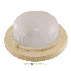 Светильник для деревянных строений НПБ1301 сосна круг 60Вт IP54 TDM