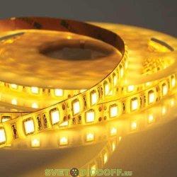 Лента светодиодная стандарт SMD 5050, 60 LED/м, 14,4 Вт/м, 12В , IP20, Желтый