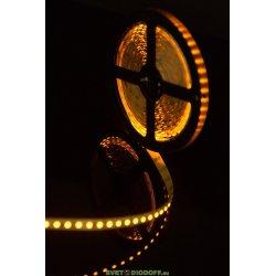Лента светодиодная стандарт SMD 3528, 120 LED/м, 9,6 Вт/м, 12В , IP20, Желтый