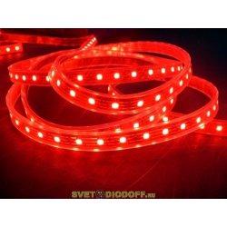 Лента светодиодная стандарт SMD 5050, 60 LED/м, 14,4 Вт/м, 12В , IP68, Цвет: Красный