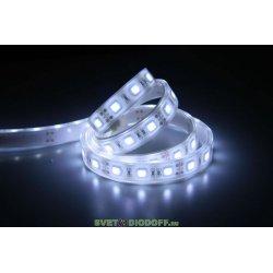 Лента светодиодная стандарт SMD 5050, 60 LED/м, 14,4 Вт/м, 12В , IP68, Цвет: Холодный белый
