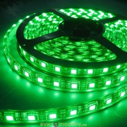 Лента светодиодная стандарт SMD 5050, 60 LED/м, 14,4 Вт/м, 12В , IP68, Цвет: Зеленый