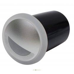Светильник светодиодный встраиваемый для стен и ниш LED-1W, белый свет, с коробкой встраиваемой, матовое серебро