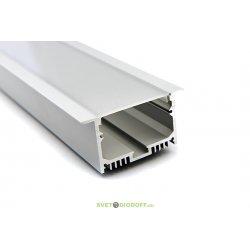 Встраиваемый алюминиевый профиль для светодиодной подсветки 2613, 2500х24х13