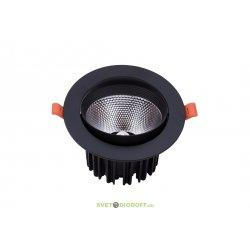 Светильник потолочный светодиодный встраиваемый с повортной конструкцией, Черный, 18Вт, IP40, Нейтральный белый (4000К)