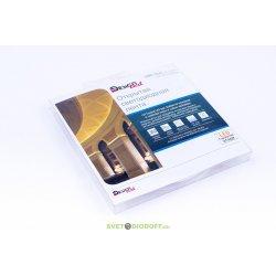Лента светодиодная DesignLed LUX, SMD 3528, 60 LED/м, 4,8 Вт/м, 12В, IP33, Теплый белый (3000K)