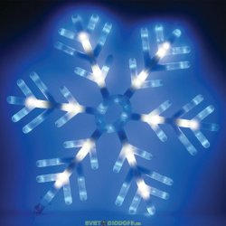 "Световая фигура ""снежинка"" 220-240V 142 LED (мультиколор), IP20, 58*58 см, 1,6м шнур"