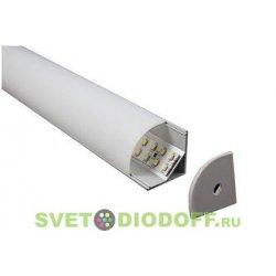 Алюминиевый профиль угловой для широких светодиодных лент SD-282, 2000х30х27мм