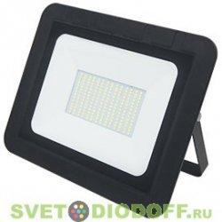 Светодиодный прожектор тонкий черный 100W 290X230X32, ECOLA PROJECTOR LED 220V 2800K IP65