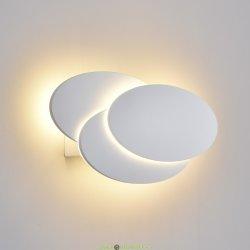 Настенный светодиодный светильник 12W, IP20, 3000К, белый
