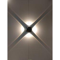 Светильник четырех лучевой Круглый LGD-Wall-Orb-4B-8W Warm White черный IP54