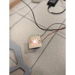Светодиодный светильник встраиваемый в стену В01(звездочка красная) 3,5W AC220V 70х70мм IP67