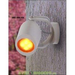 Светильник светодиодный фасадный Fumagalli MINI TOMMY белый, полупрозрозрачный, 1XGU10 LED с лампой 3,5W