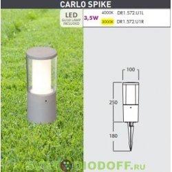 Светильник светодиодный грунтовыйCARLO SPIKE (рефлектор белый), серый, прозр., 1xGU10 LED с лампой 3,5W