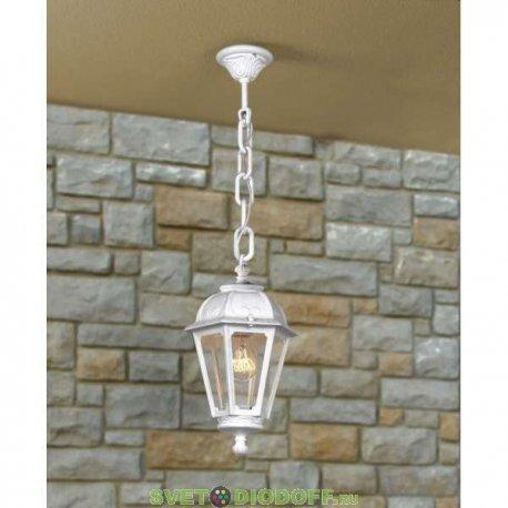 Уличный подвесной светильник Fumagalli Sichem/Saba белый, прозрачный 1xE27 LED-FIL с лампой 800Lm, 2700К