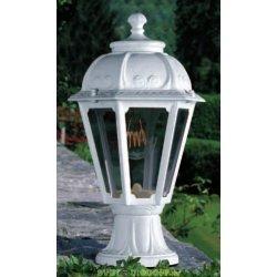 Уличный садовый светильник Fumagalli Mikrolot/Saba белый, прозрачный 1xE27 LED-FIL с лампой 800Lm, 2700К