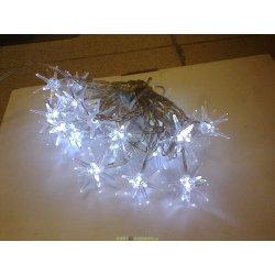 Гирлянда снежинки 20 белых светодиодов
