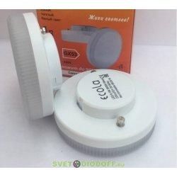 Лампа светодиодная Ecola GX53  LED 10,0W Tablet 220V 4200K матовое стекло (композит) 27x75